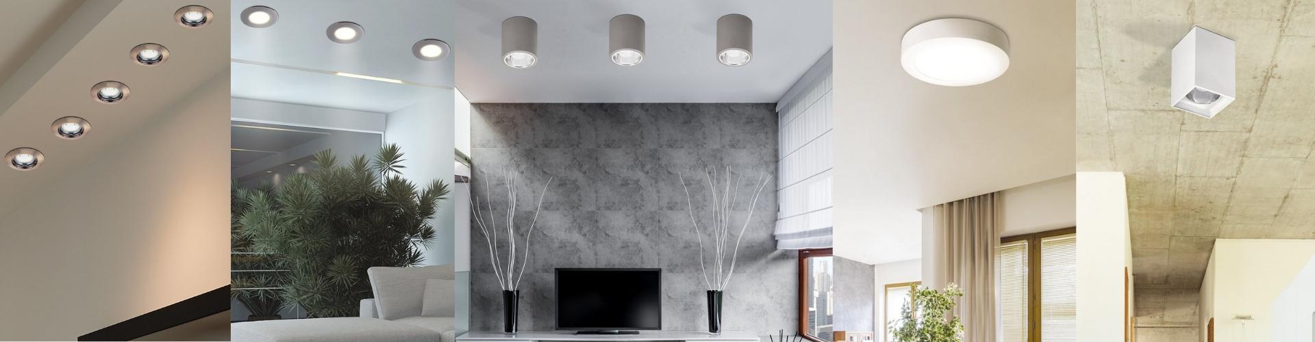 Вградени и повърхностно монтирани лампи